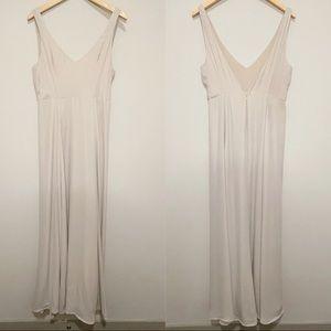 Show Me Your Mumu Tan Jenn Maxi Dress Bridesmaid L